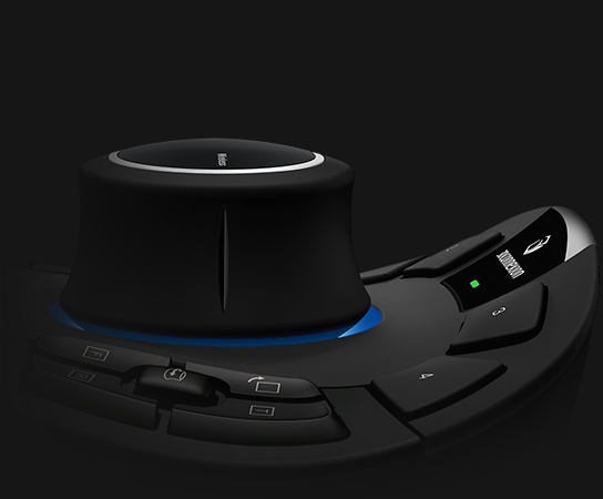 SpaceMouse Pro 3D Connexion CADMouse Wireless Mouse